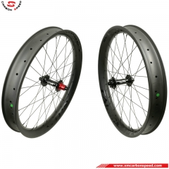 CSFW-FHR68C 68mm 26er fat bike wheels carbon clincher
