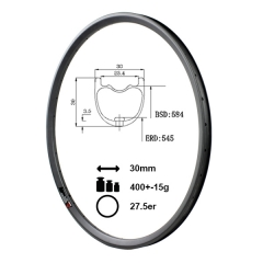 YHR730C 27.5er mtb 30mm wide carbon rim mtb 27.5""