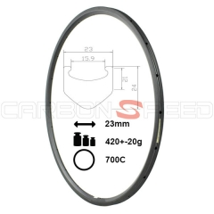 RM24C-23mm 24mm carbon clincher rim 23mm wide